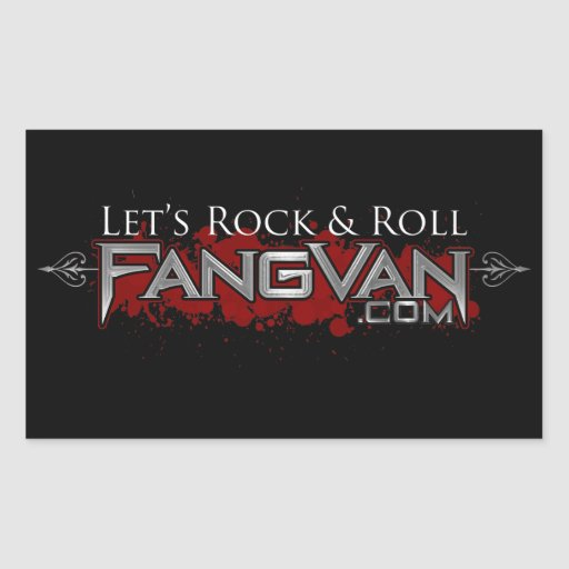 "Funcionario del rock-and-roll de FangVan ""déjenos"" Pegatina"