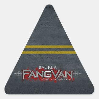 """Funcionario del """"soporte"""" de FangVan Pegatina Triangular"""