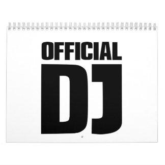 Funcionario DJ Calendario De Pared