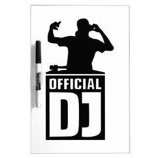 Funcionario DJ Tablero Blanco