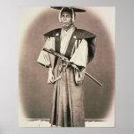 Funcionario judicial o samurai japonés, c.1870s (m póster