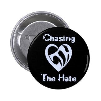 Funcionario que persigue el botón del odio pin redondo de 2 pulgadas