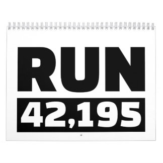 Funcione con 42 kilómetros de maratón calendario de pared