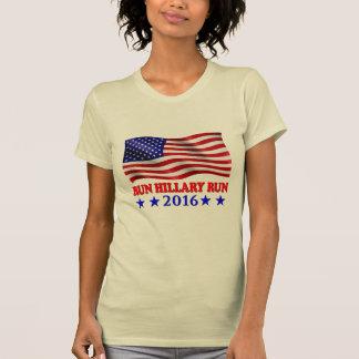 Funcione con a Hillary con la bandera - camisetas