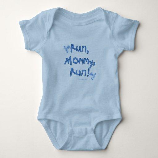 Funcione con a la mamá funcionada con - azul mameluco de bebé