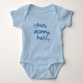 Funcione con a la mamá funcionada con - azul camisetas