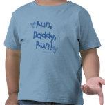 Funcione con al papá funcionado con - azul camiseta