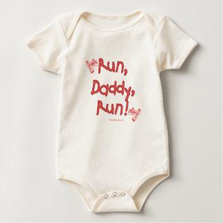 Funcione con al papá funcionado con - rosa trajes de bebé