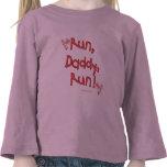 Funcione con al papá funcionado con - rosa camisetas