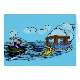 Funcione con el barco ausente tarjeta de felicitación