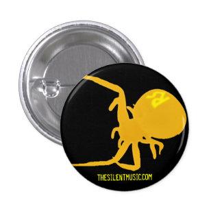Funcione con el botón silencioso de los arácnidos pin redondo de 1 pulgada