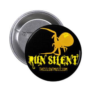 Funcione con el botón silencioso del logotipo de l pin redondo de 2 pulgadas