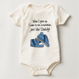 Funcione con el maratón apenas como papá body para bebé