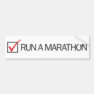 Funcione con una caja de control del maratón etiqueta de parachoque