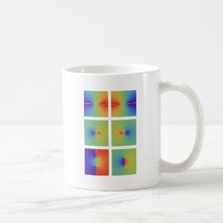 Funciones trigonométricas inversas complejas taza básica blanca