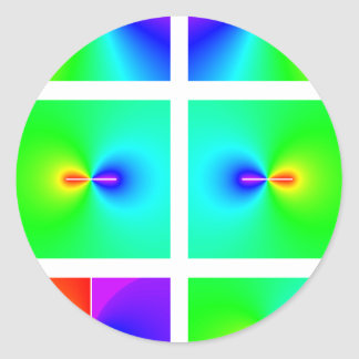 funciones trigonométricas inversas en plano pegatina redonda