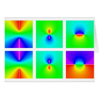 funciones trigonométricas inversas en plano tarjeta de felicitación