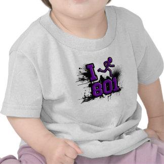 Funciono con 801 púrpuras/la camiseta negra del be