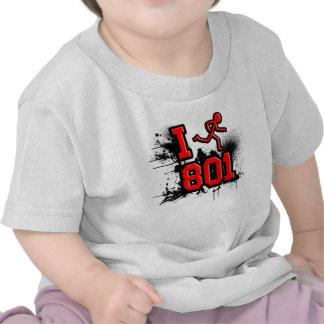Funciono con 801 rojos/la camiseta negra del bebé