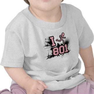 Funciono con 801 rosados/la camiseta negra del beb
