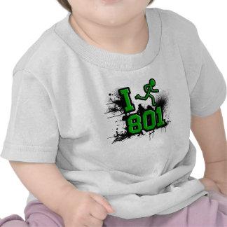 Funciono con 801 verdes/la camiseta negra del bebé