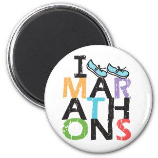 ¡Funciono con maratones! Imán Redondo 5 Cm