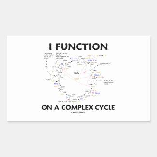 Funciono en un ciclo complejo (el ciclo de Krebs) Pegatina Rectangular