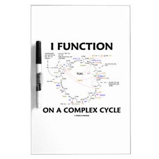 Funciono en un ciclo complejo (el ciclo de Krebs) Pizarra