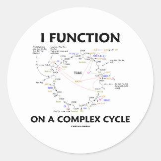Funciono en un ciclo complejo (el humor del ciclo pegatina redonda