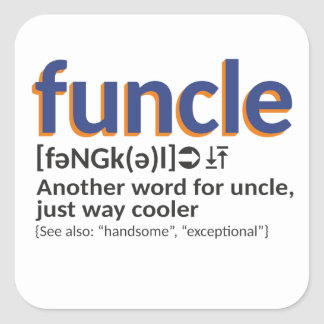 Funcle definition square sticker