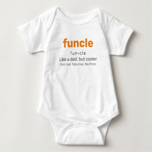 Funcle - Fun Uncle Family Baby Bodysuit