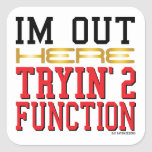 Function Square Stickers