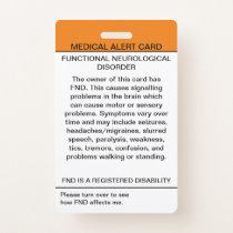 Functional Neurological Disorder Medical Badge