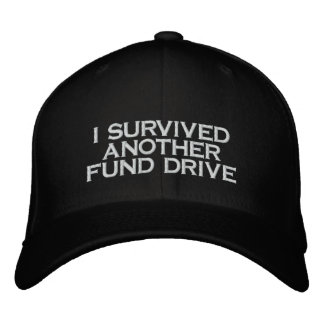 fund drive embroidered baseball cap