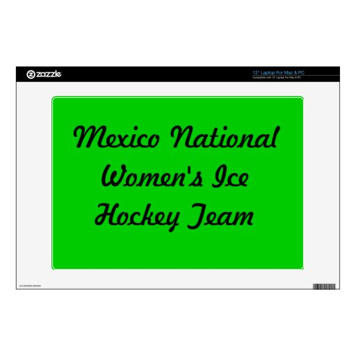 Fund for Mexican womens  ice hockey team Decals For Laptops