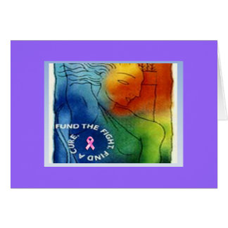 Fund the Fight Find a Cure Stationery Note Card