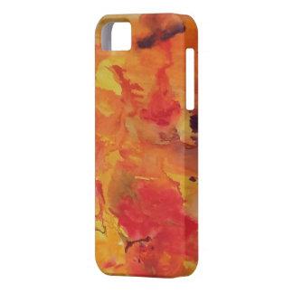 Funda acuarela 12 roja anaranjada amarilla iPhone 5 protector