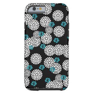 Funda azul negra blanca del iPhone 6 de Sakura Funda De iPhone 6 Tough