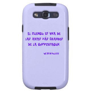 Funda carcasa para móvil con frase sobre Silencio Galaxy SIII Coberturas