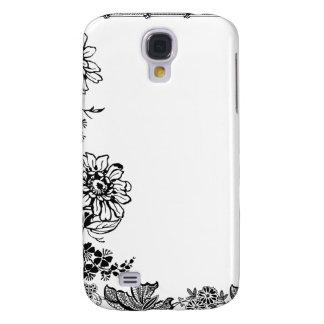 Funda color de rosa floral del iPhone de la siluet