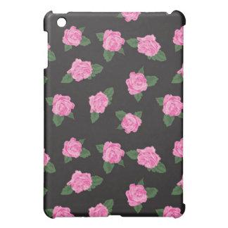 Funda color de rosa negra y rosada del iPad