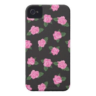 Funda color de rosa rosada negra y grande del
