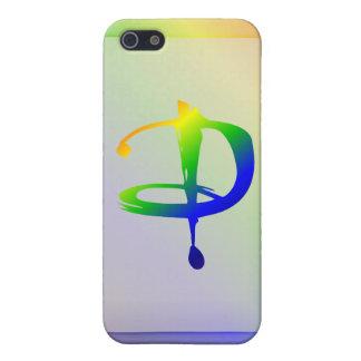 Funda-d del iPhone 5 del monograma del arco iris iPhone 5 Funda