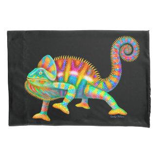 Funda de almohada colorida del camaleón de la funda de cojín