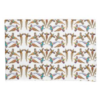 Funda de almohada de cuatro faisanes que vuela funda de cojín