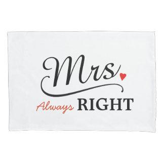 Funda de almohada de la novia de señora Always la Funda De Cojín