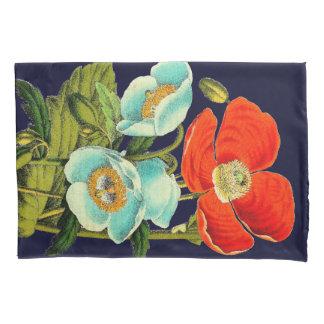 Funda de almohada floral de la flor de la amapola funda de cojín