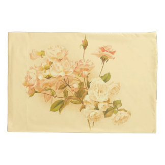 Funda de almohada floral subió vintage de la flor funda de cojín