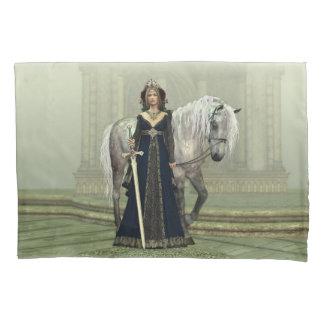 Funda de almohada medieval de la señora y del funda de cojín