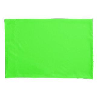 Funda de almohada verde de neón funda de cojín